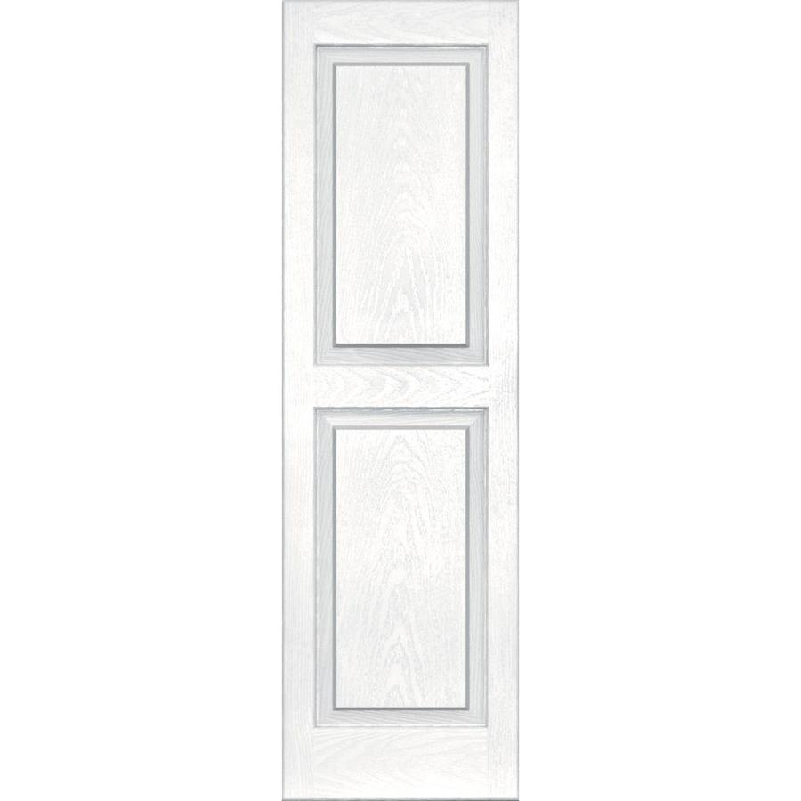 Vantage 2-Pack White Raised Panel Vinyl Exterior Shutters (Common: 14-in x 47-in; Actual: 13.875-in x 46.625-in)
