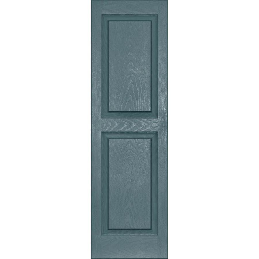 Vantage Exterior Window Shutters: Shop Vantage 2-Pack Wedgewood Blue Raised Panel Vinyl