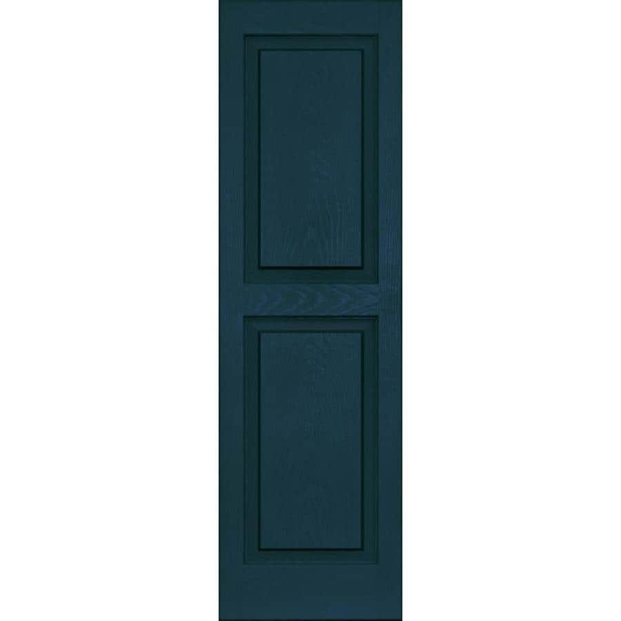 Vantage 2-Pack Indigo Blue Raised Panel Vinyl Exterior Shutters (Common: 14-in x 47-in; Actual: 13.875-in x 46.625-in)