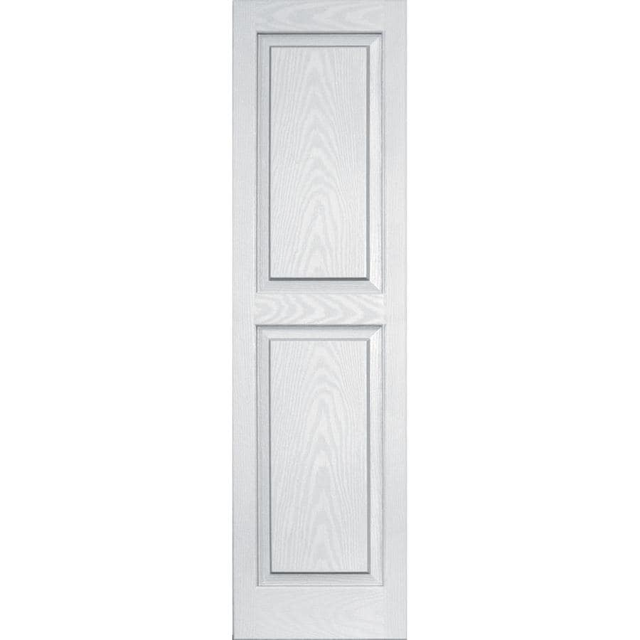 Vantage 2-Pack White Raised Panel Vinyl Exterior Shutters (Common: 14-in x 51-in; Actual: 13.875-in x 50.625-in)