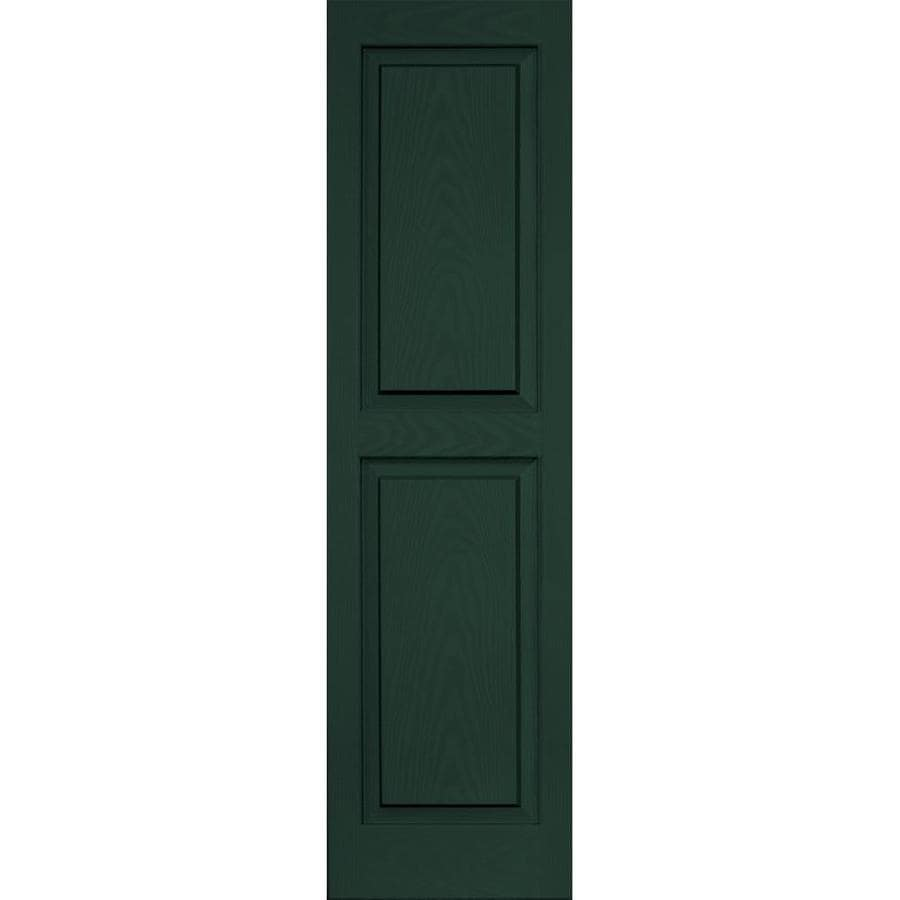 Vantage 2-Pack Midnight Green Raised Panel Vinyl Exterior Shutters (Common: 14-in x 51-in; Actual: 13.875-in x 50.625-in)