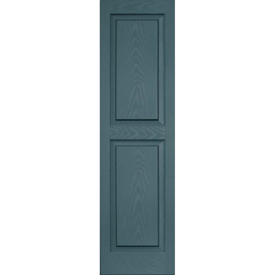 Vantage 2-Pack Wedgewood Blue Raised Panel Vinyl Exterior Shutters (Common: 14-in x 51-in; Actual: 13.875-in x 50.625-in)