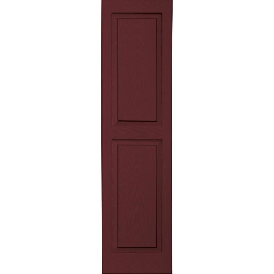 Vantage 2-Pack Cranberry Raised Panel Vinyl Exterior Shutters (Common: 14-in x 55-in; Actual: 13.875-in x 54.5625-in)