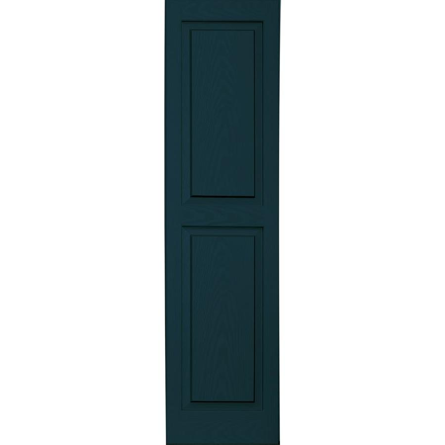 Vantage 2-Pack Indigo Blue Raised Panel Vinyl Exterior Shutters (Common: 14-in x 55-in; Actual: 13.875-in x 54.5625-in)