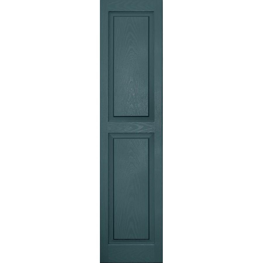 Vantage 2-Pack Wedgewood Blue Raised Panel Vinyl Exterior Shutters (Common: 14-in x 59-in; Actual: 13.875-in x 58.5-in)