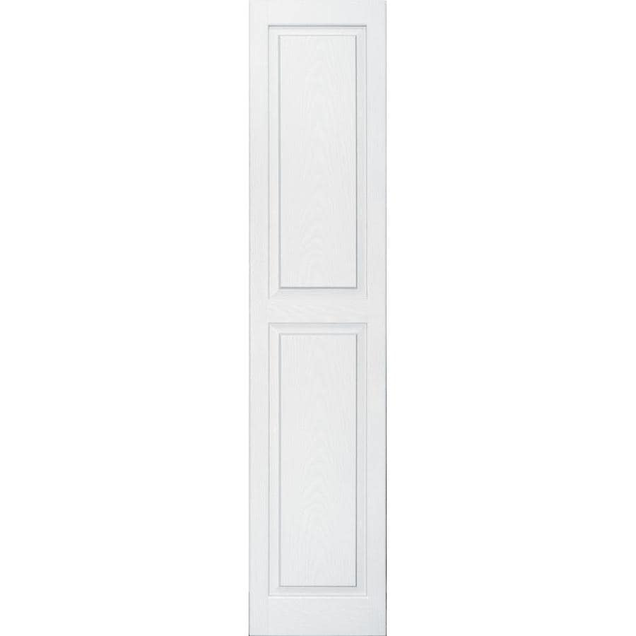 Vantage 2-Pack White Raised Panel Vinyl Exterior Shutters (Common: 14-in x 67-in; Actual: 13.875-in x 66.5625-in)