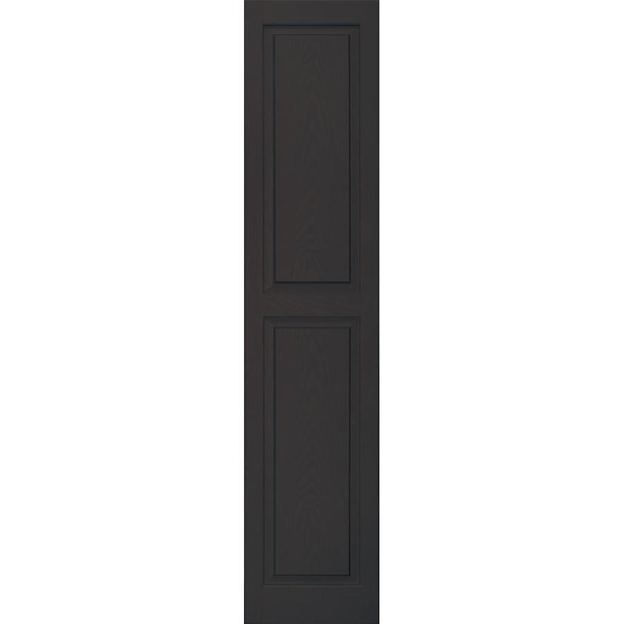 Vantage 2-Pack Chocolate Brown Raised Panel Vinyl Exterior Shutters (Common: 14-in x 67-in; Actual: 13.875-in x 66.5625-in)