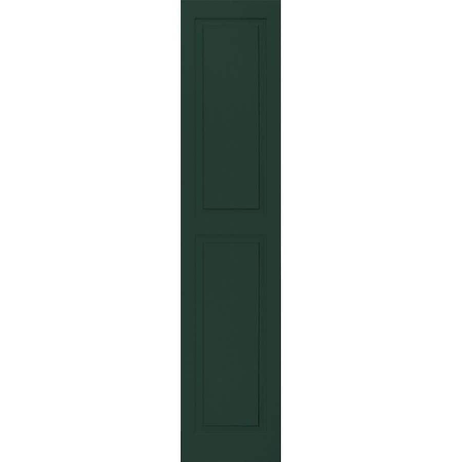 Vantage 2-Pack Midnight Green Raised Panel Vinyl Exterior Shutters (Common: 14-in x 67-in; Actual: 13.875-in x 66.5625-in)