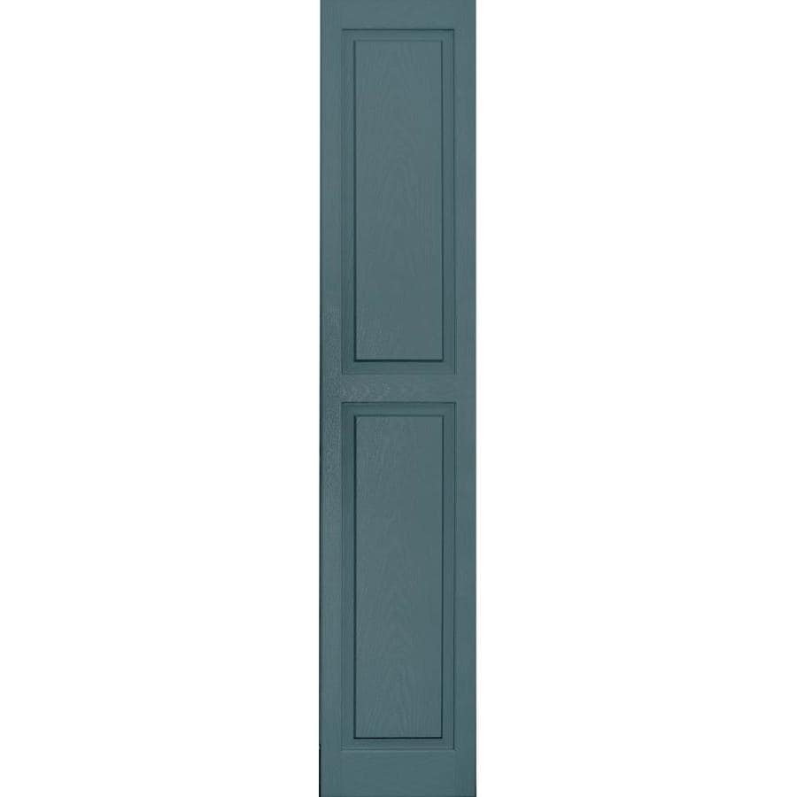 Vantage 2-Pack Wedgewood Blue Raised Panel Vinyl Exterior Shutters (Common: 14-in x 71-in; Actual: 13.875-in x 70.5-in)