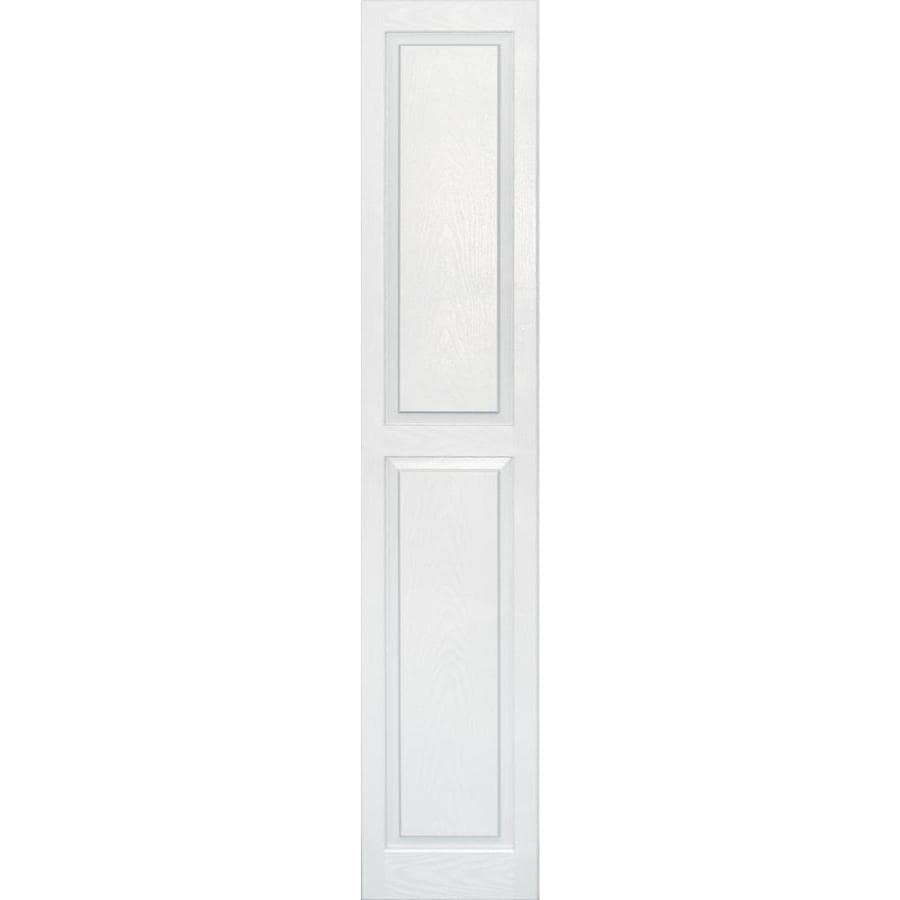 Vantage 2-Pack White Raised Panel Vinyl Exterior Shutters (Common: 14-in x 75-in; Actual: 13.875-in x 74.5625-in)