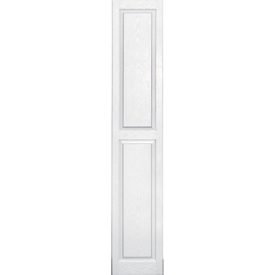 Vantage 2-Pack White Raised Panel Vinyl Exterior Shutters (Common: 14-in x 80-in; Actual: 13.875-in x 79.5-in)