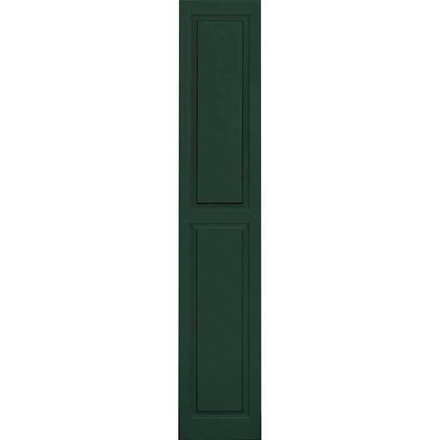 Vantage 2-Pack Midnight Green Raised Panel Vinyl Exterior Shutters (Common: 14-in x 80-in; Actual: 13.875-in x 79.5-in)