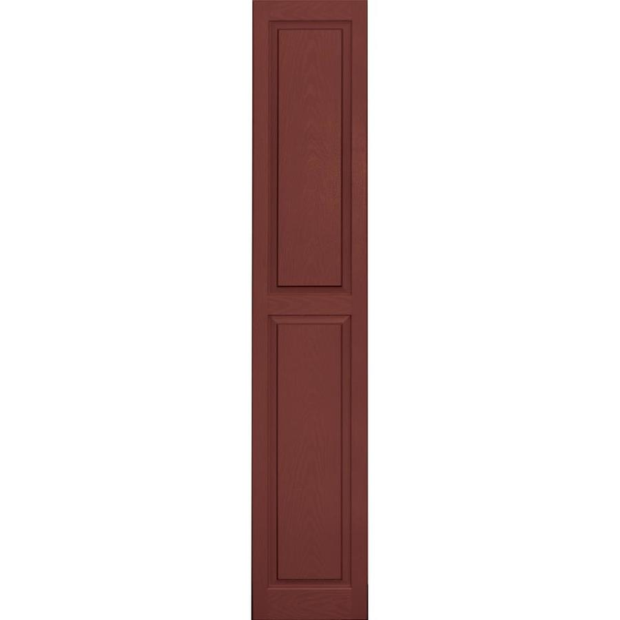 Vantage 2-Pack Cambridge Red Raised Panel Vinyl Exterior Shutters (Common: 14-in x 80-in; Actual: 13.875-in x 79.5-in)