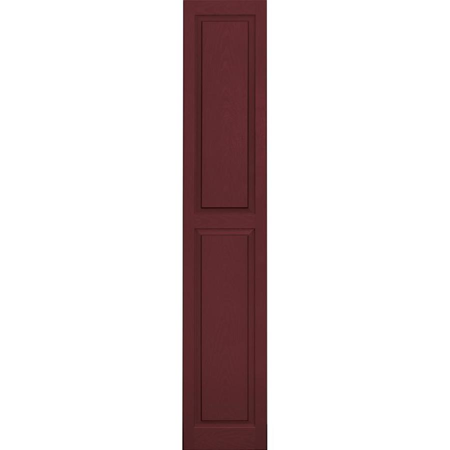 Vantage 2-Pack Cranberry Raised Panel Vinyl Exterior Shutters (Common: 14-in x 80-in; Actual: 13.875-in x 79.5-in)