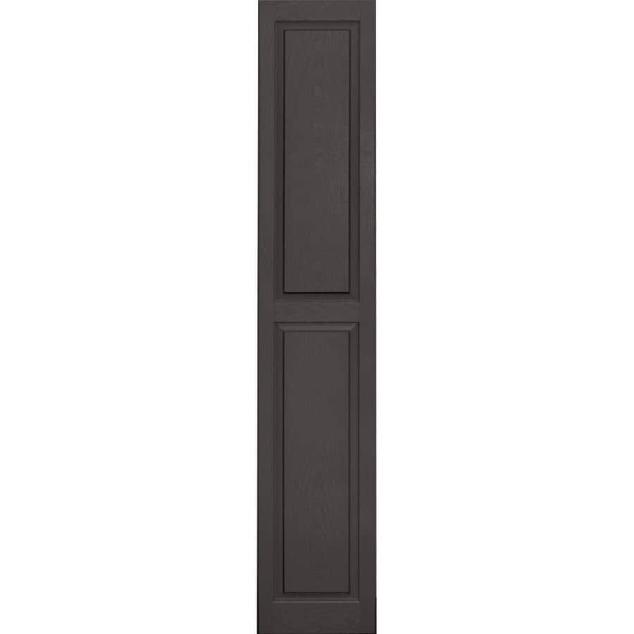 Vantage 2-Pack Charcoal Grey Raised Panel Vinyl Exterior Shutters (Common: 14-in x 80-in; Actual: 13.875-in x 79.5-in)