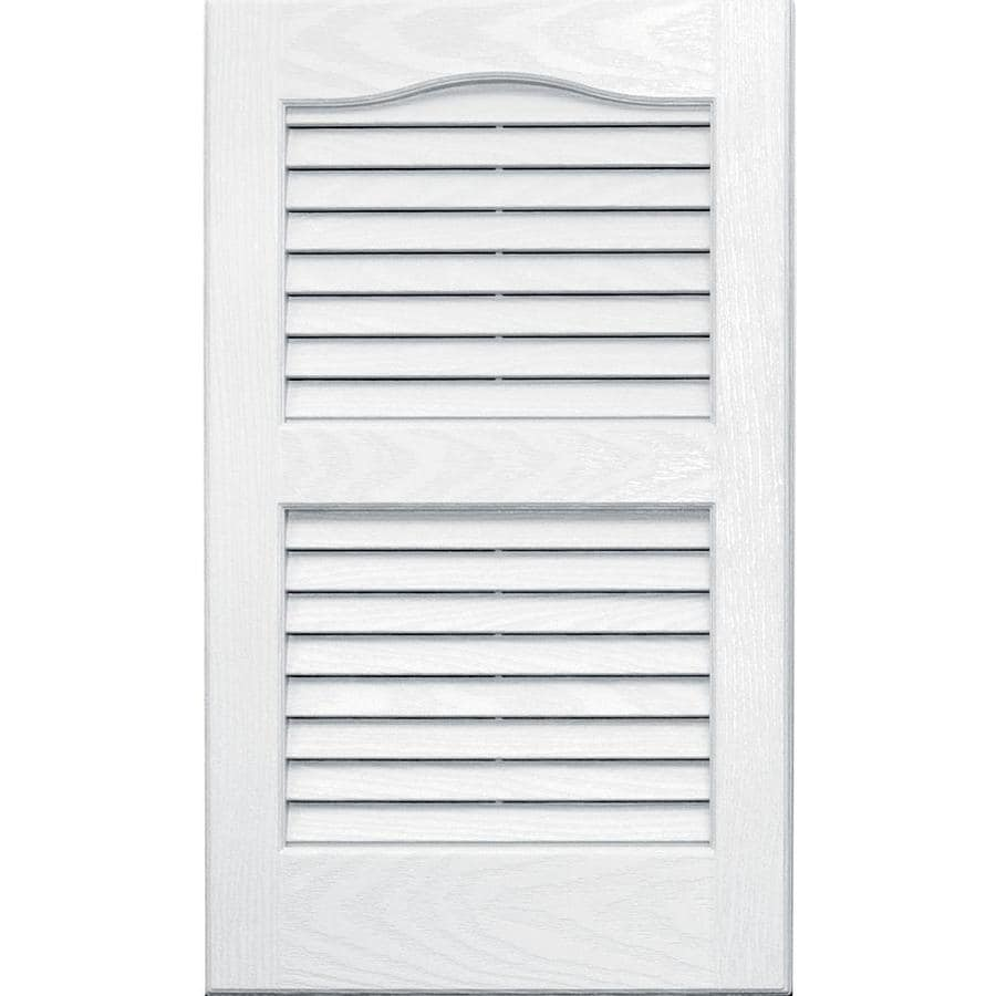 Vantage 2-Pack White Louvered Vinyl Exterior Shutters (Common: 14-in x 24-in; Actual: 13.875-in x 23.6875-in)