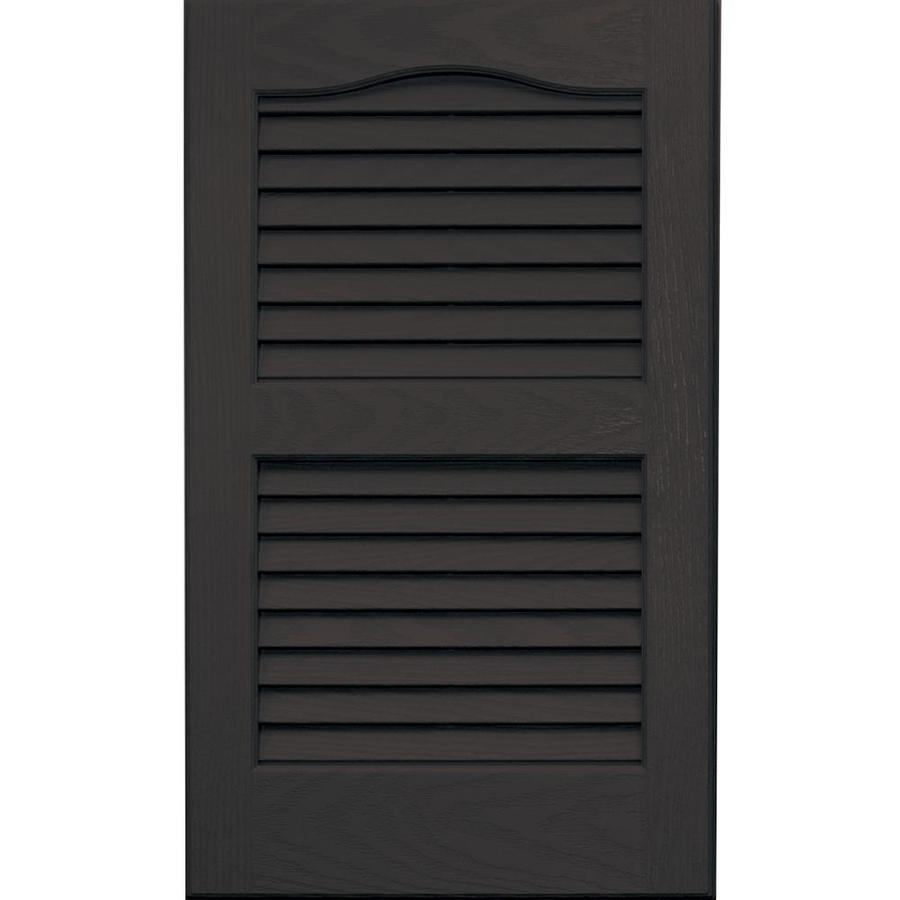 Vantage 2-Pack Chocolate Brown Louvered Vinyl Exterior Shutters (Common: 14-in x 24-in; Actual: 13.875-in x 23.6875-in)