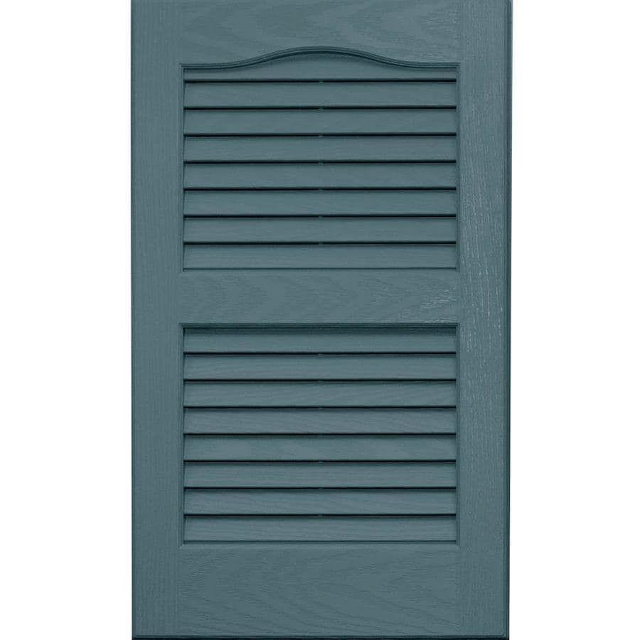 Vantage 2-Pack Wedgewood Blue Louvered Vinyl Exterior Shutters (Common: 14-in x 24-in; Actual: 13.875-in x 23.6875-in)