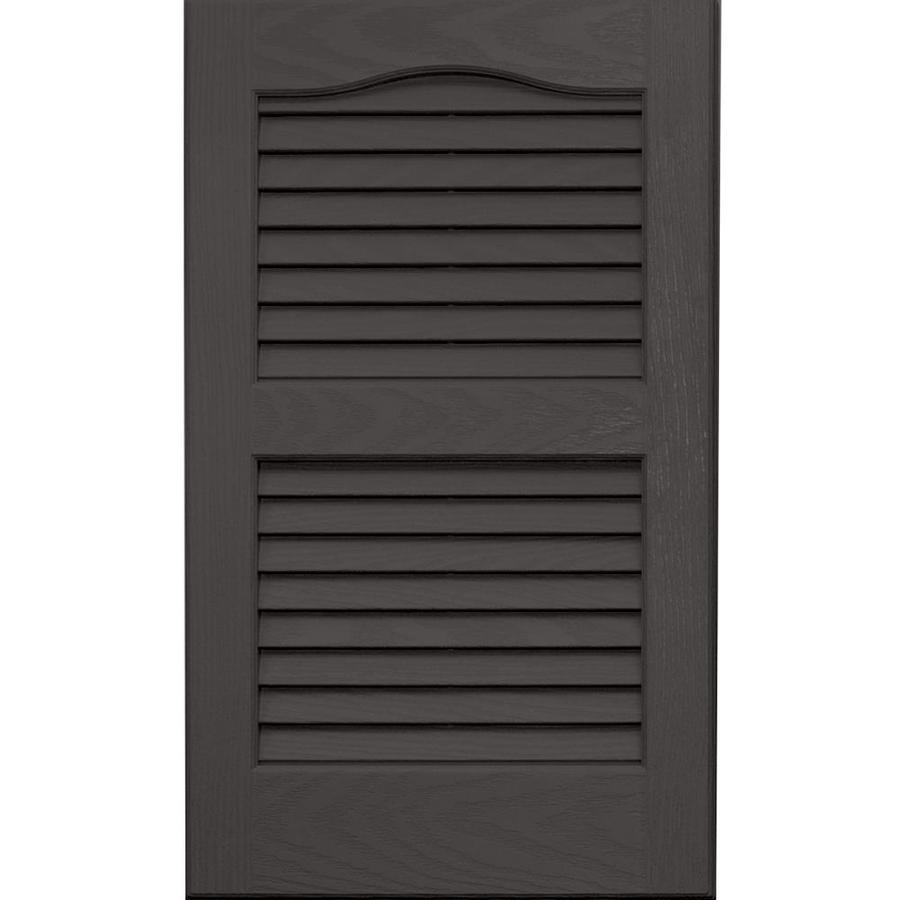 vantage 2 pack charcoal grey louvered vinyl exterior shutters common