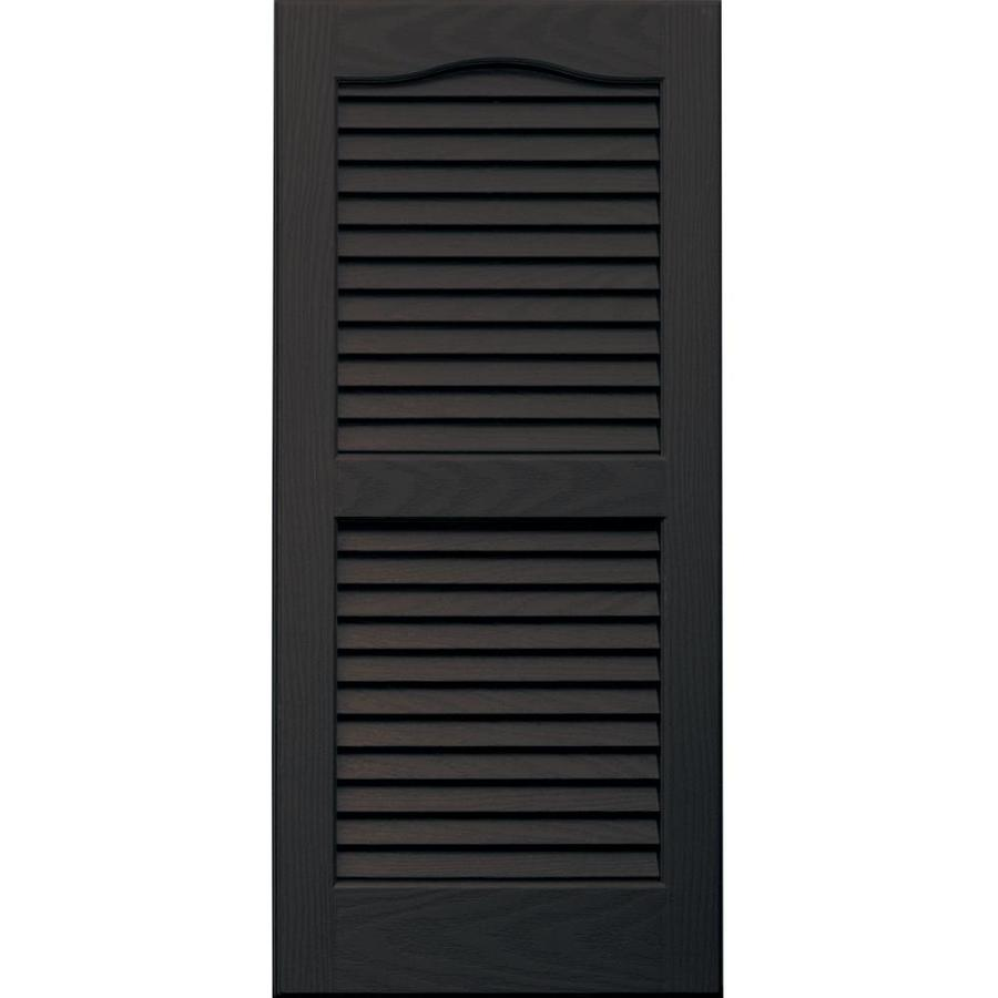 Vantage 2-Pack Chocolate Brown Louvered Vinyl Exterior Shutters (Common: 14-in x 31-in; Actual: 13.875-in x 30.6875-in)