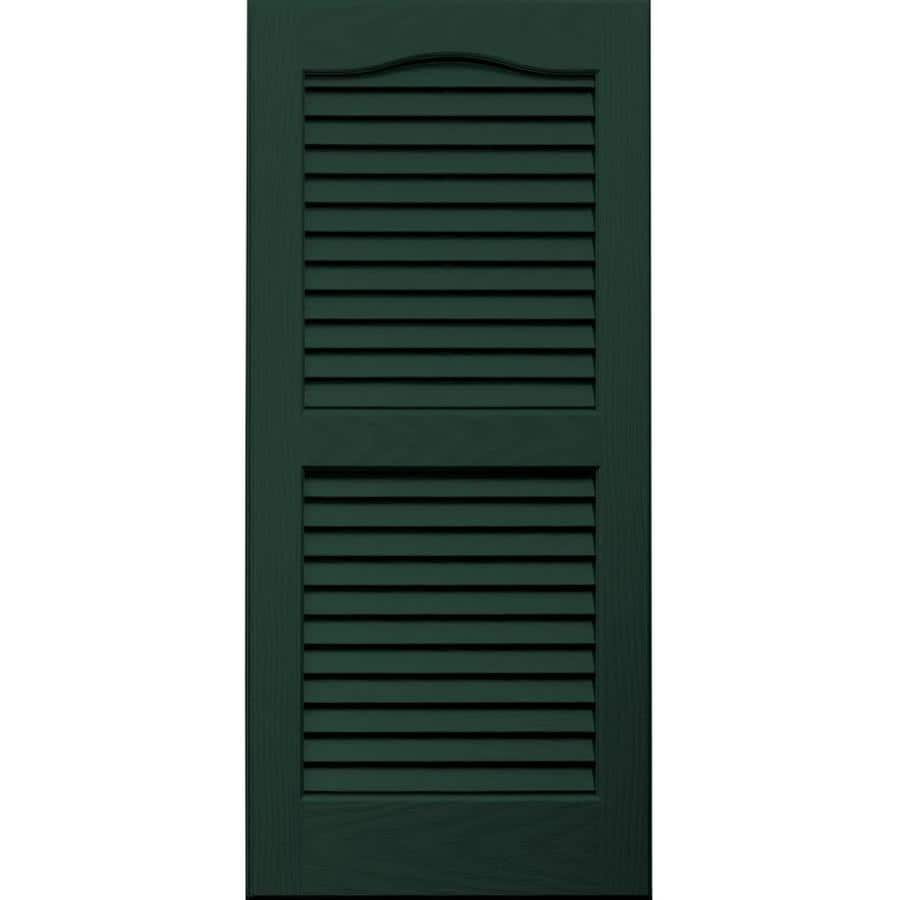 Vantage 2-Pack Midnight Green Louvered Vinyl Exterior Shutters (Common: 14-in x 31-in; Actual: 13.875-in x 30.6875-in)