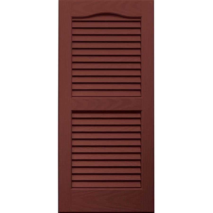 Vantage 2-Pack Cambridge Red Louvered Vinyl Exterior Shutters (Common: 14-in x 31-in; Actual: 13.875-in x 30.6875-in)