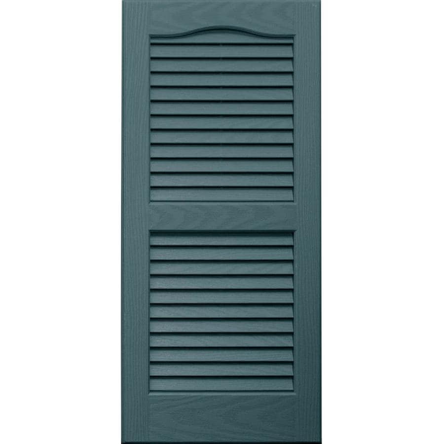 Vantage 2-Pack Wedgewood Blue Louvered Vinyl Exterior Shutters (Common: 14-in x 31-in; Actual: 13.875-in x 30.6875-in)