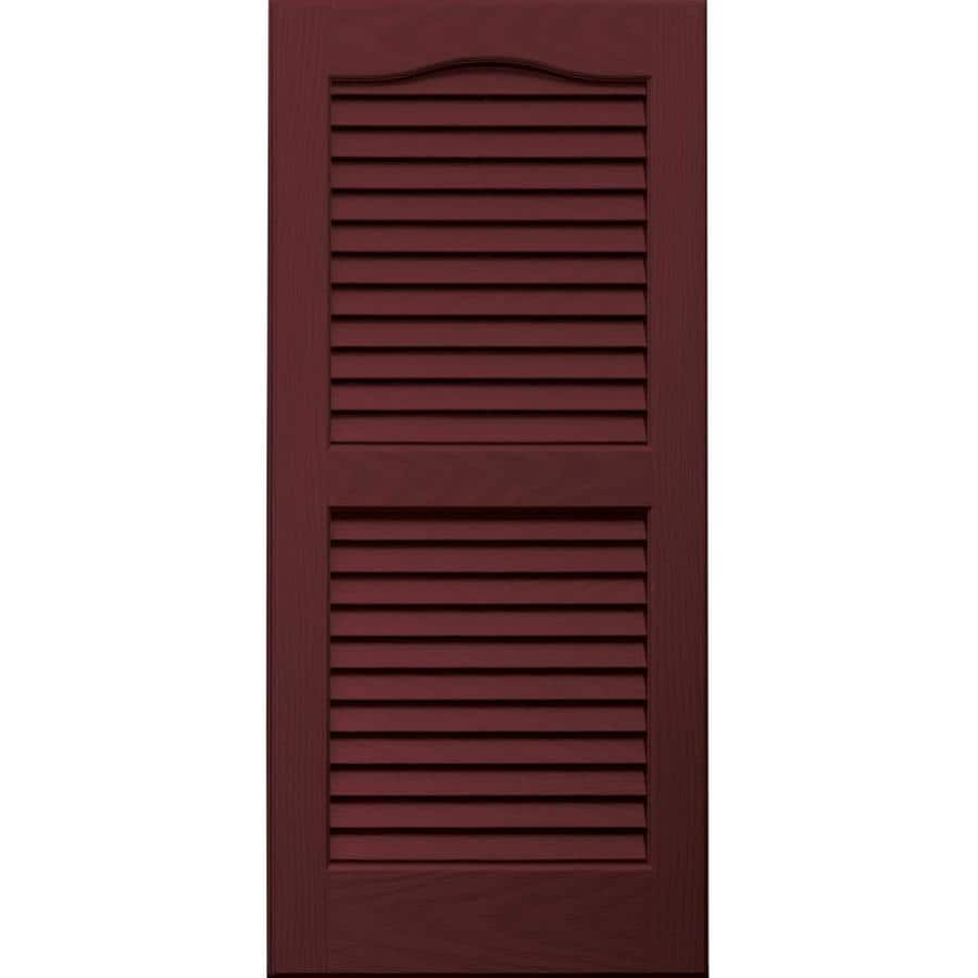 Vantage 2-Pack Cranberry Louvered Vinyl Exterior Shutters (Common: 14-in x 31-in; Actual: 13.875-in x 30.6875-in)