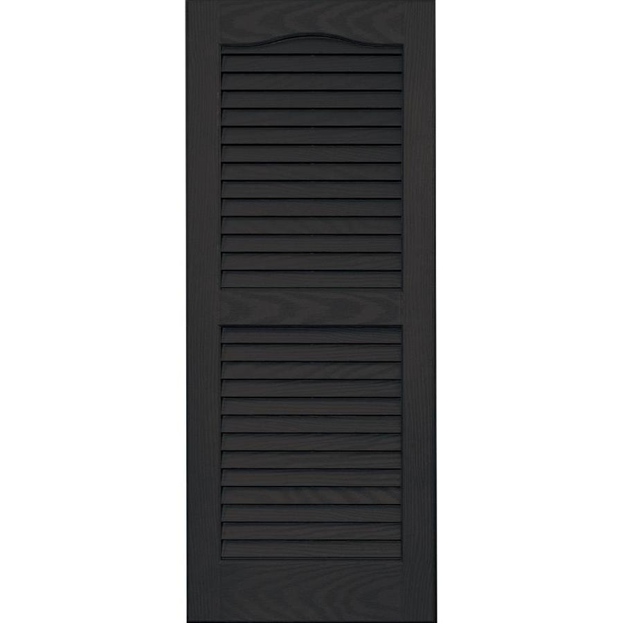 Vantage 2-Pack Chocolate Brown Louvered Vinyl Exterior Shutters (Common: 14-in x 35-in; Actual: 13.875-in x 34.6875-in)