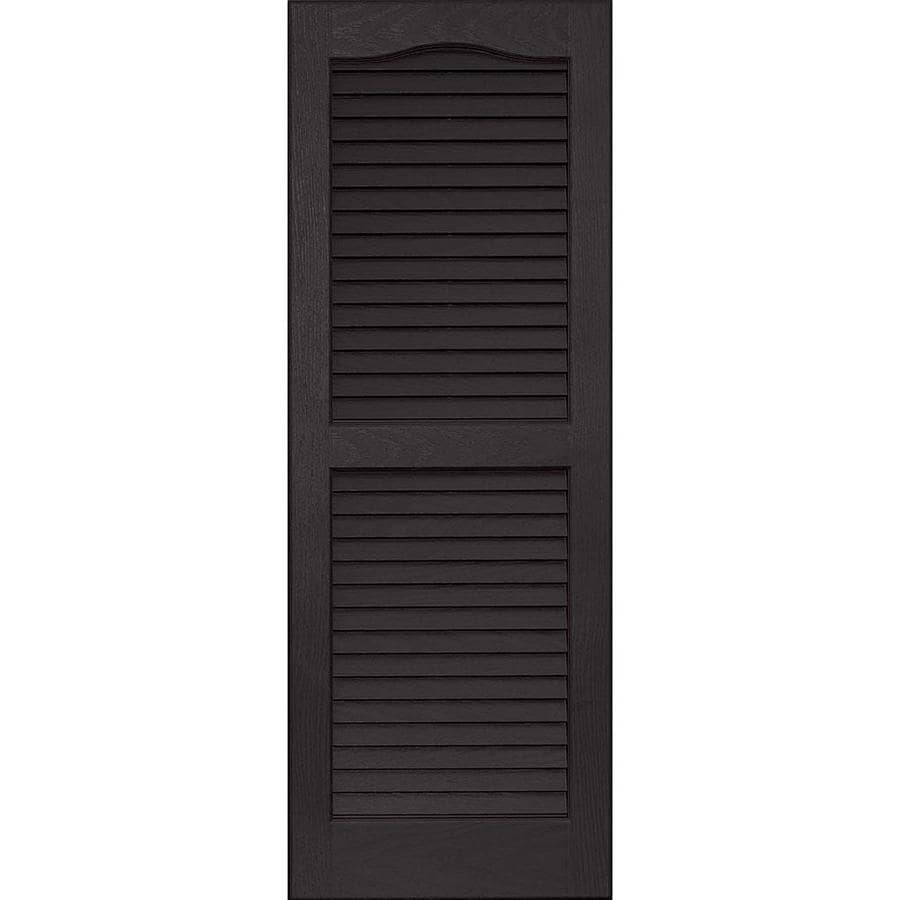 Vantage 2 Pack Black Louvered Vinyl Exterior Shutters