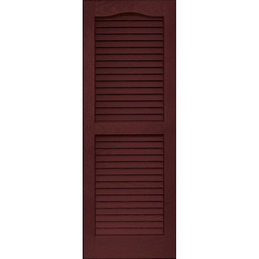 Vantage 2 pack cranberry louvered vinyl exterior shutters - Paintable louvered vinyl exterior shutters ...