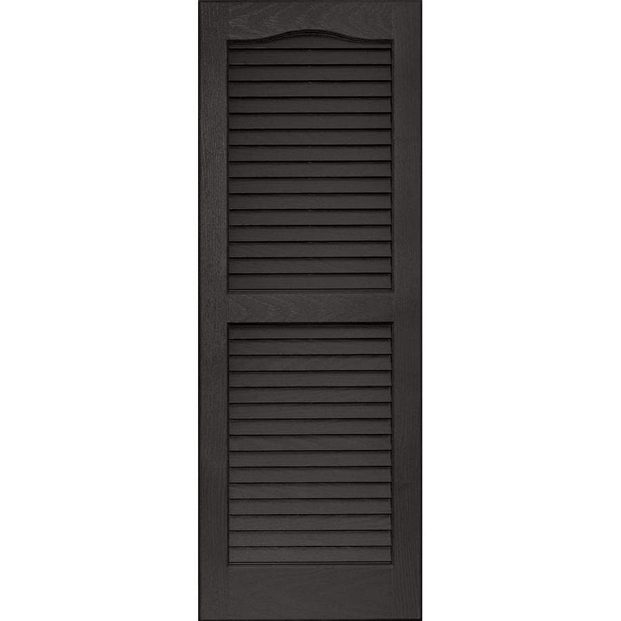 Vantage 2-Pack Charcoal Grey Louvered Vinyl Exterior Shutters (Common: 14-in x 39-in; Actual: 13.875-in x 38.6875-in)