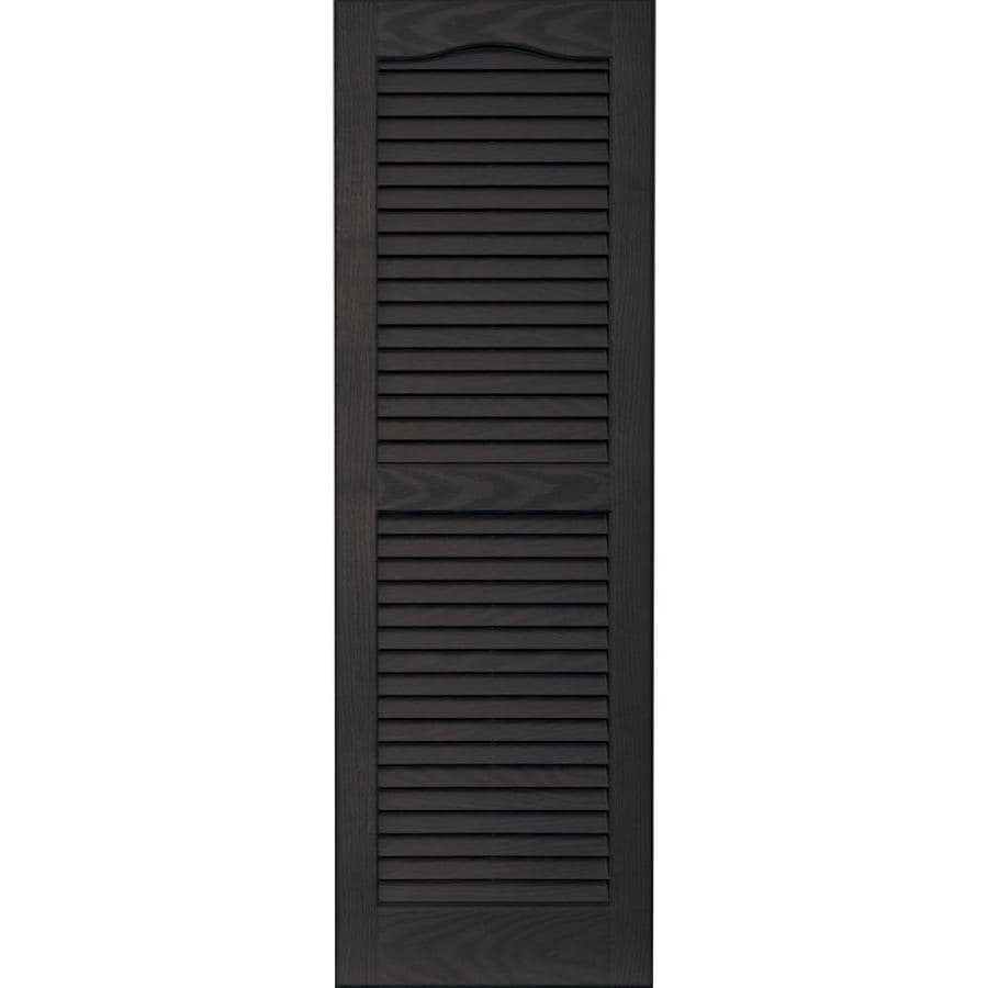 Shop Vantage 2 Pack Chocolate Brown Louvered Vinyl
