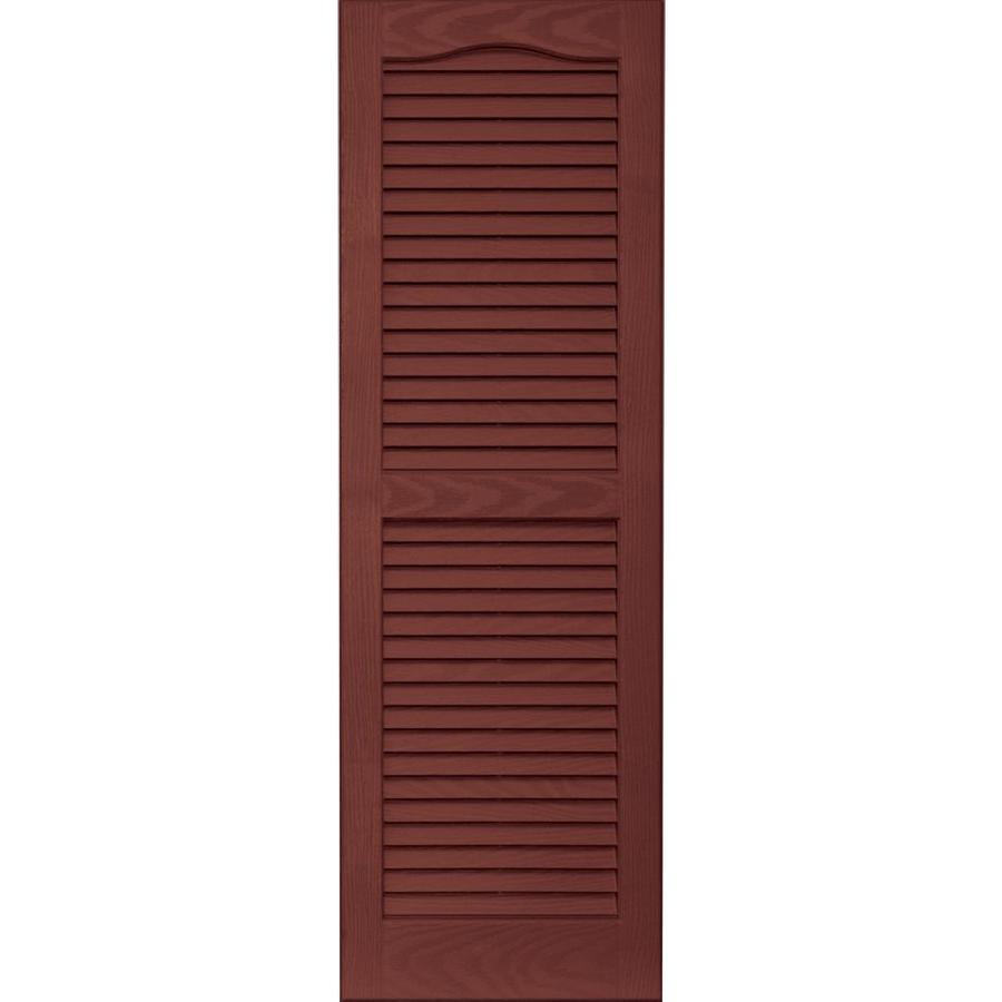 Vantage 2-Pack Cambridge Red Louvered Vinyl Exterior Shutters (Common: 14-in x 43-in; Actual: 13.875-in x 42.6875-in)