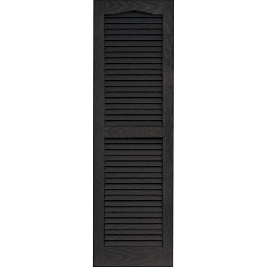 Vantage 2-Pack Chocolate Brown Louvered Vinyl Exterior Shutters (Common: 14-in x 47-in; Actual: 13.875-in x 46.6875-in)