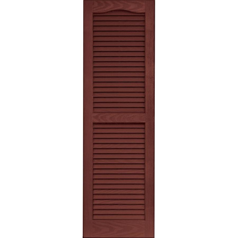 Vantage 2 Pack Cambridge Red Louvered Vinyl Exterior