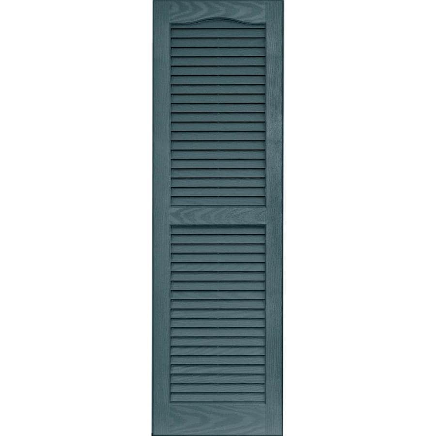 Shop Vantage 2 Pack Wedgewood Blue Louvered Vinyl Exterior Shutters Common 14 In X 47 In