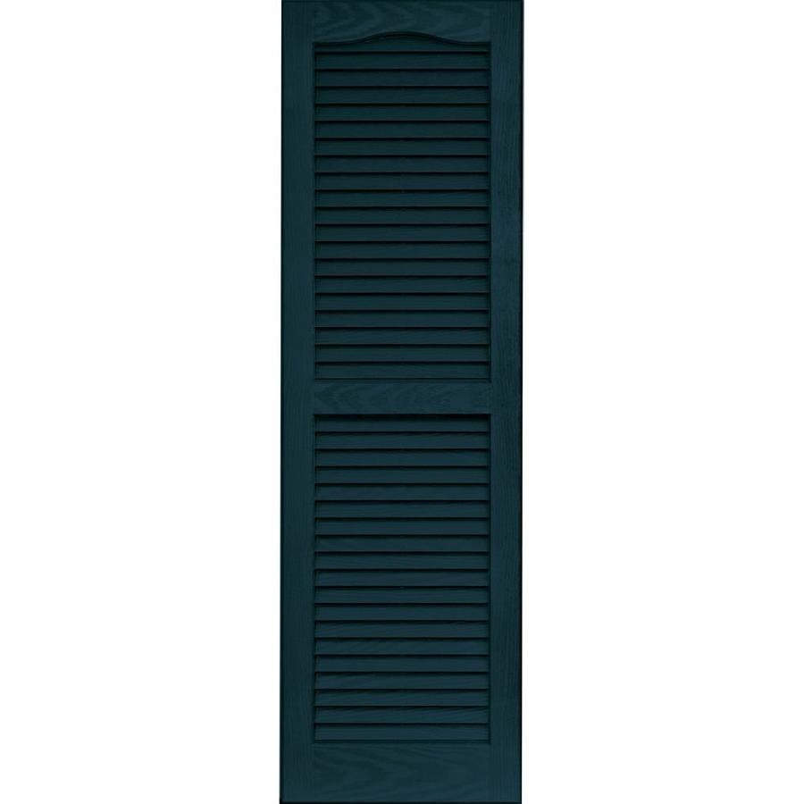Shop Vantage 2 Pack Indigo Blue Louvered Vinyl Exterior Shutters Common 14