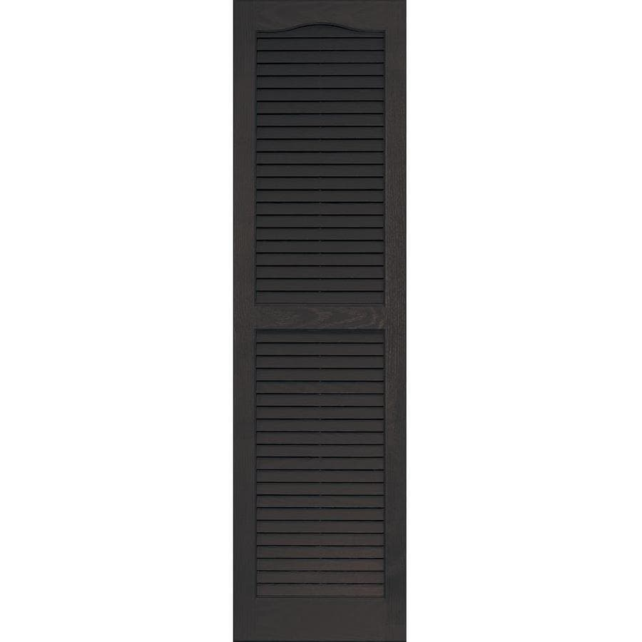 Vantage 2-Pack Chocolate Brown Louvered Vinyl Exterior Shutters (Common: 14-in x 51-in; Actual: 13.875-in x 50.625-in)