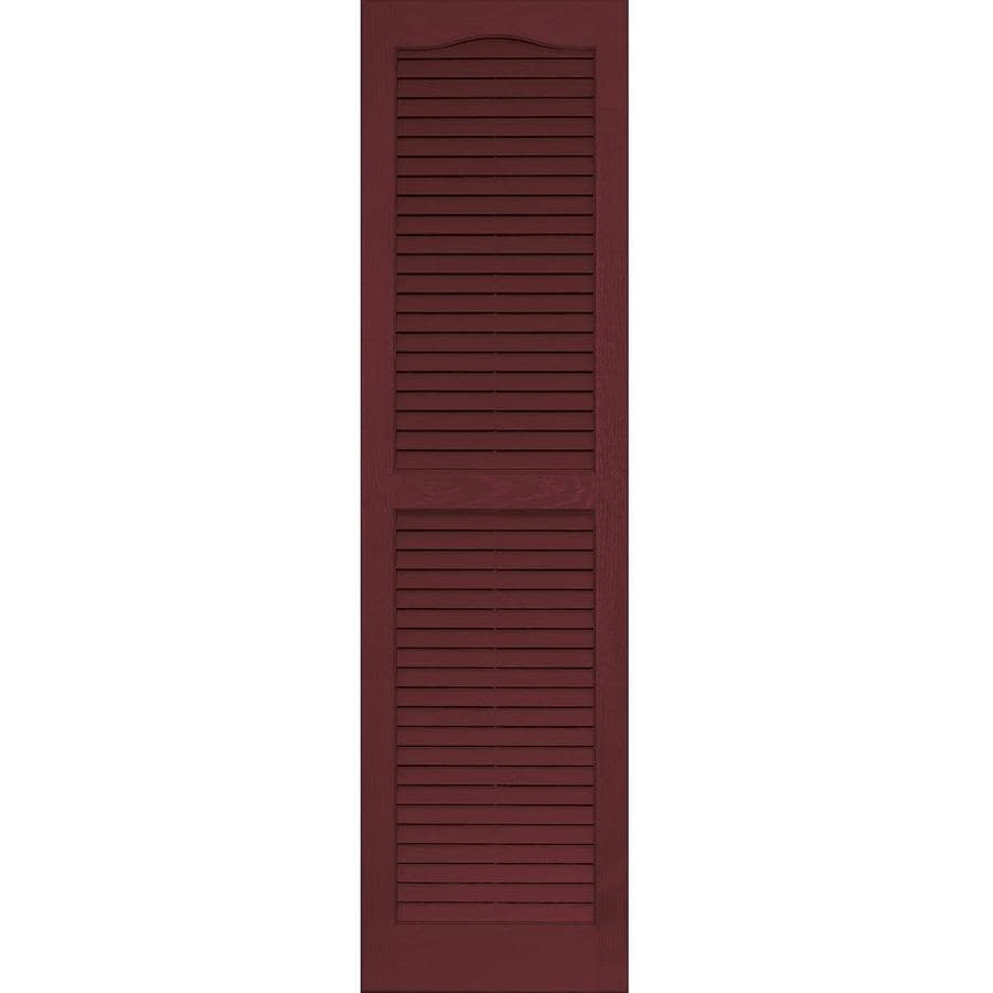 Vantage 2-Pack Cranberry Louvered Vinyl Exterior Shutters (Common: 14-in x 51-in; Actual: 13.875-in x 50.625-in)