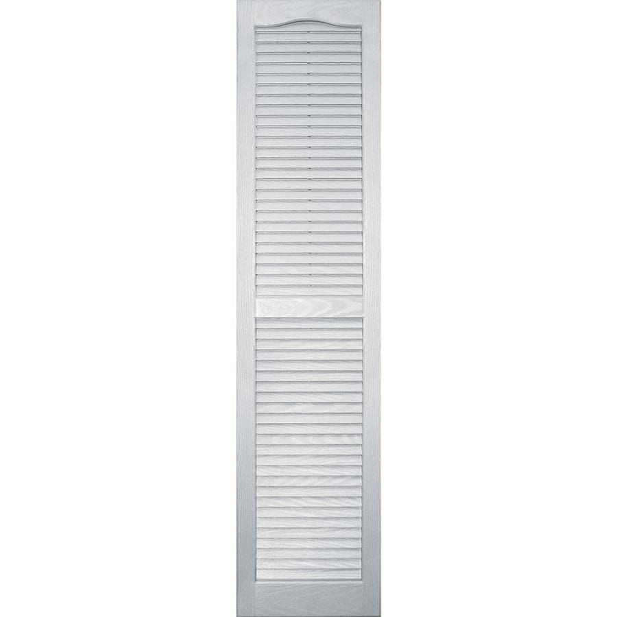 Shop Vantage 2 Pack White Louvered Vinyl Exterior Shutters
