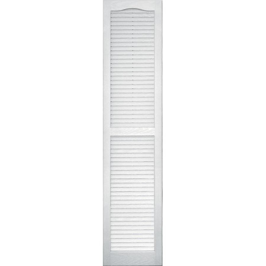 Vantage 2-Pack White Louvered Vinyl Exterior Shutters (Common: 14-in x 63-in; Actual: 13.875-in x 62.5-in)