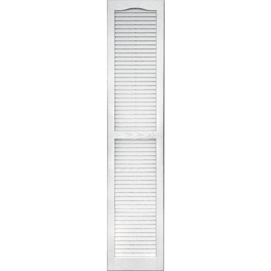 Shop Vantage 2 Pack White Louvered Vinyl Exterior Shutters Common 14 In X 67 In Actual 13