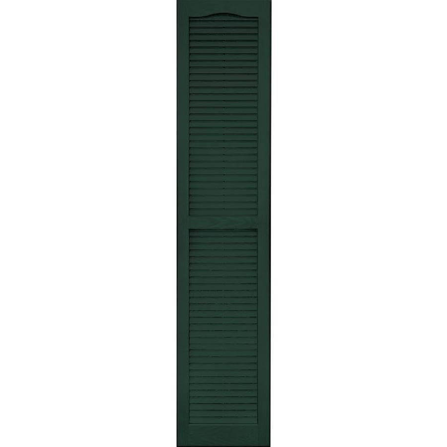 Vantage 2-Pack Midnight Green Louvered Vinyl Exterior Shutters (Common: 14-in x 67-in; Actual: 13.875-in x 66.625-in)