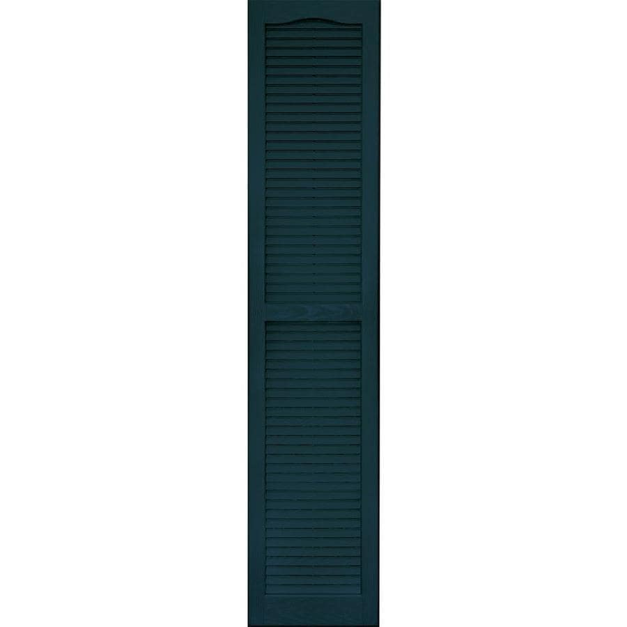 Vantage 2-Pack Indigo Blue Louvered Vinyl Exterior Shutters (Common: 14-in x 67-in; Actual: 13.875-in x 66.625-in)