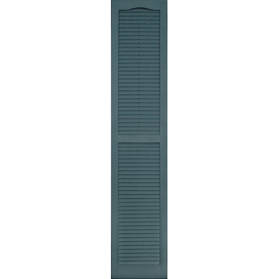 Shop Vantage 2 Pack Wedgewood Blue Louvered Vinyl Exterior Shutters Common 14 In X 71 In