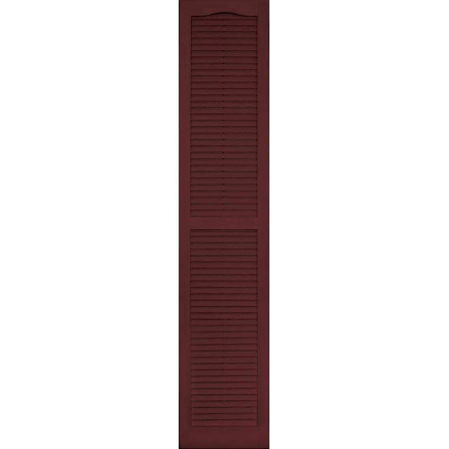 Vantage 2-Pack Cranberry Louvered Vinyl Exterior Shutters (Common: 14-in x 71-in; Actual: 13.875-in x 70.625-in)