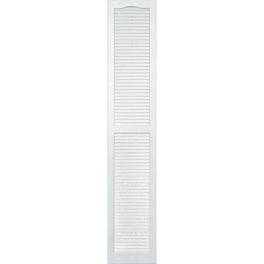 Vantage 2-Pack White Louvered Vinyl Exterior Shutters (Common: 14-in x 80-in; Actual: 13.875-in x 79.625-in)