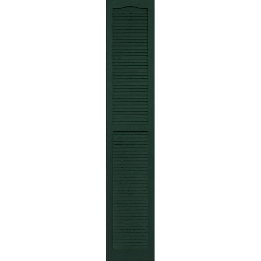 Vantage 2-Pack Midnight Green Louvered Vinyl Exterior Shutters (Common: 14-in x 80-in; Actual: 13.875-in x 79.625-in)