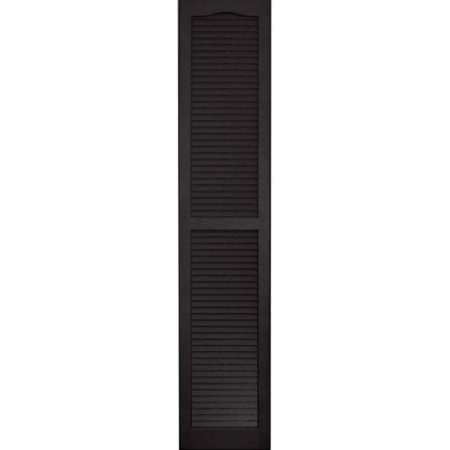 Vantage 2-Pack Black Louvered Vinyl Exterior Shutters (Common: 14-in x 75-in; Actual: 13.875-in x 74.5-in)